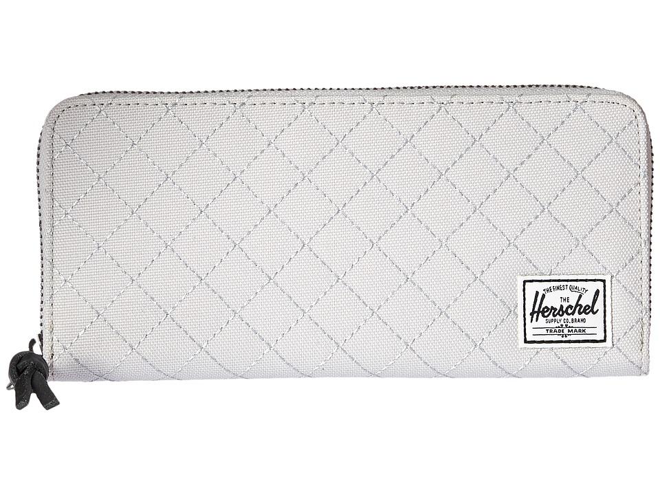 Herschel Supply Co. - Avenue with Zipper (Lunar Rock Quilted) Wallet Handbags