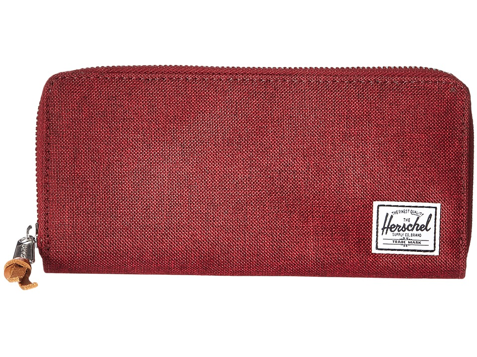 Herschel Supply Co. - Avenue with Zipper (Winetasting Crosshatch) Wallet Handbags