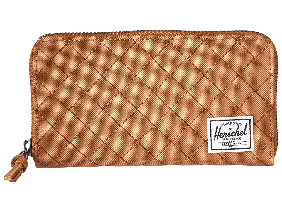 Herschel Supply Co. - Thomas with Zipper (Caramel Quilted) Wallet Handbags