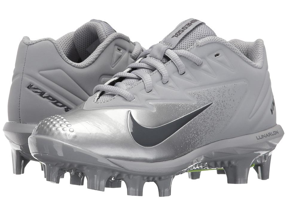 Nike Kids - Vapor Ultrafly Pro MCS BG Baseball (Big Kid) (Wolf Grey/Metallic Silver/Dark Grey) Kids Shoes