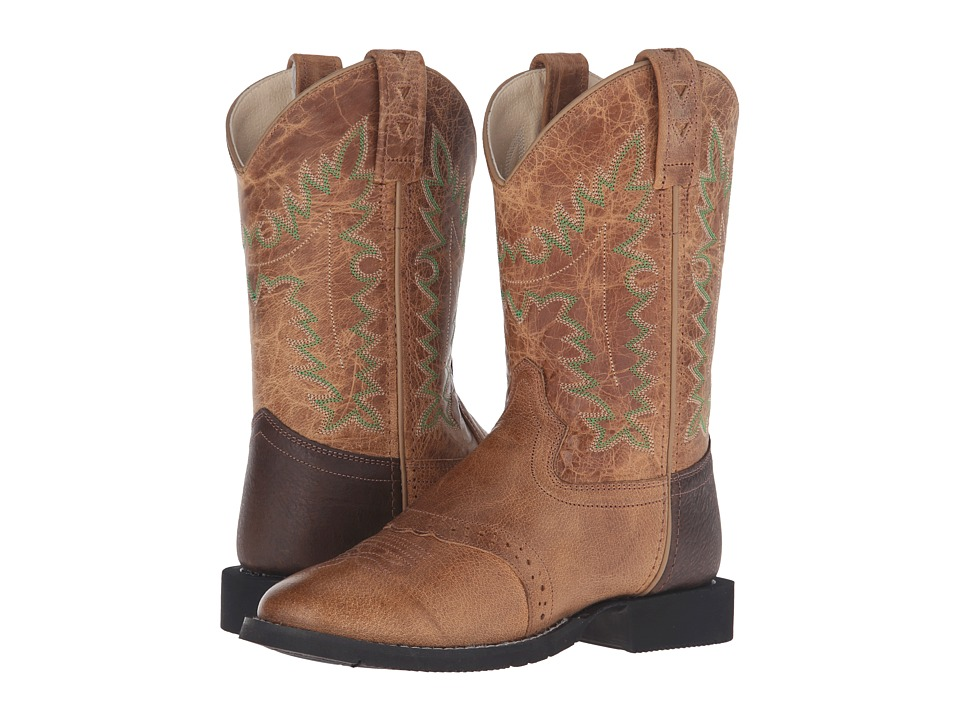 Old West Kids Boots - Comfort Wear Tan Fry (Big Kid) (Tan) Cowboy Boots