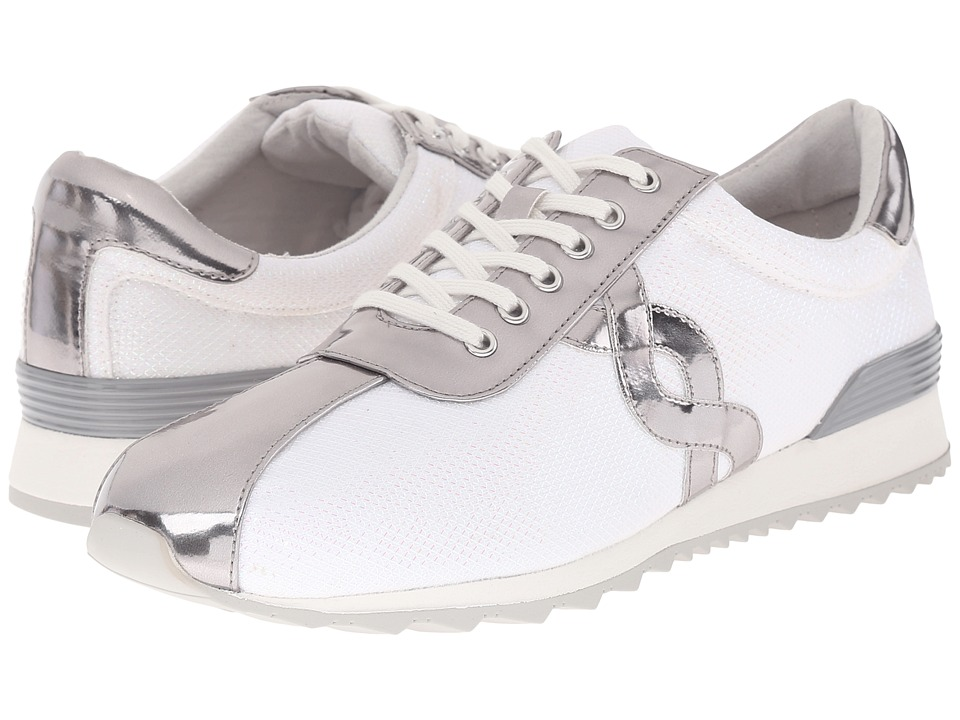 Easy Spirit - Lexana 2 (White/Silver Fabric) Women