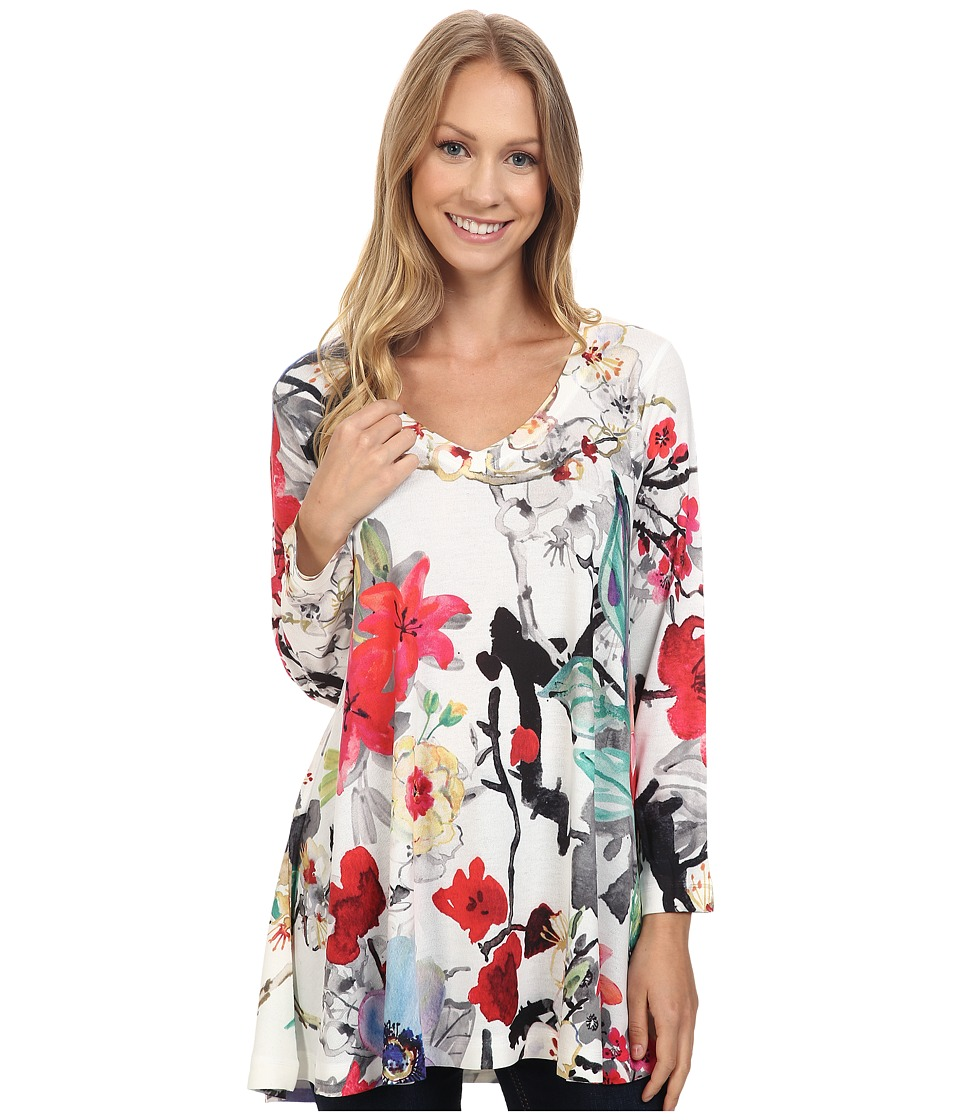 Nally & Millie - Floral V-Neck Tunic (Multi) Women's Clothing