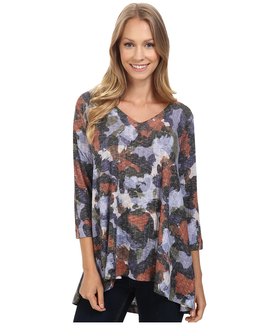 Nally & Millie - Three-Quarter Sleeve Tunic (Multi) Women's Clothing