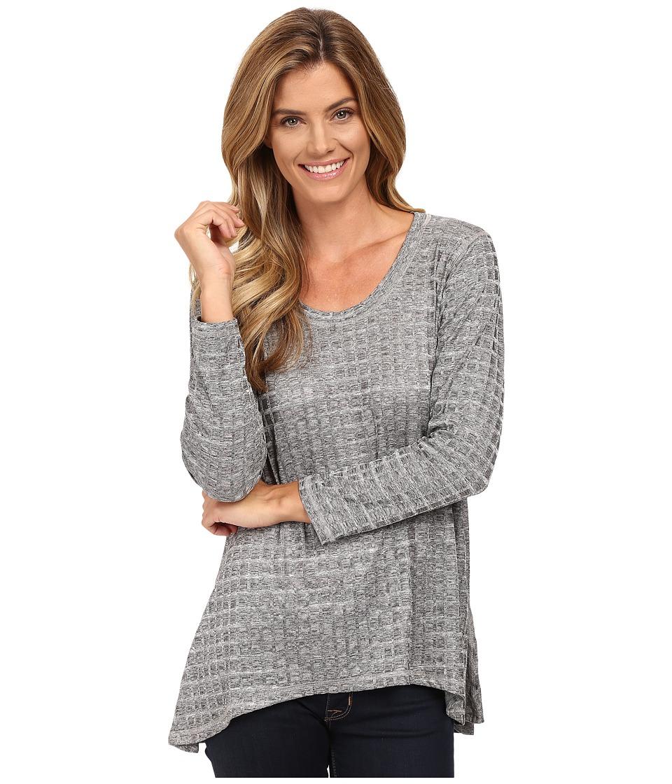 Nally & Millie - Jacquard Tunic (Grey) Women's Clothing