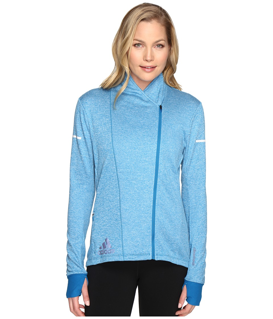 adidas - Sequencials CLIMAHEAT Wrap Jacket (Unity Blue) Women's Coat
