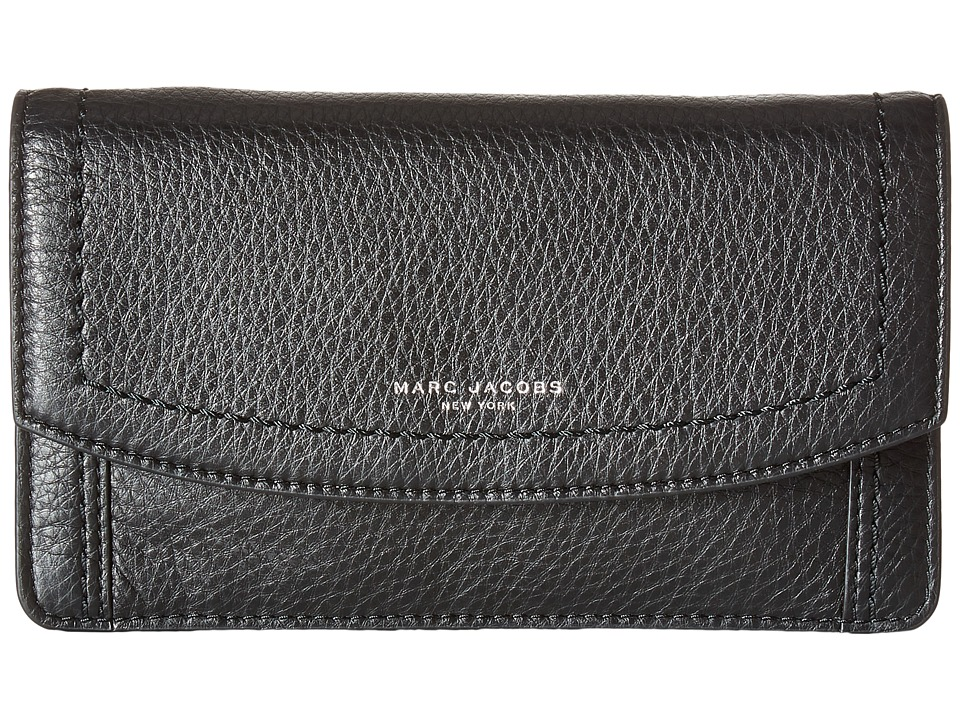 Marc Jacobs - Maverick Wallet Leather Strap (Black) Wallet Handbags