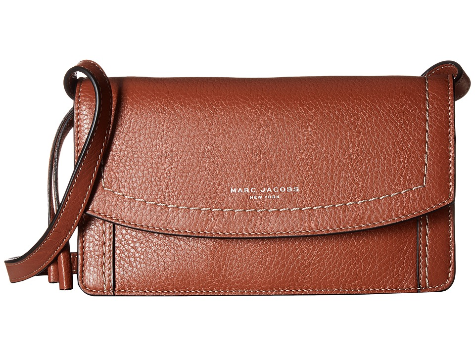 Marc Jacobs - Maverick Wallet Leather Strap (Cognac) Wallet Handbags