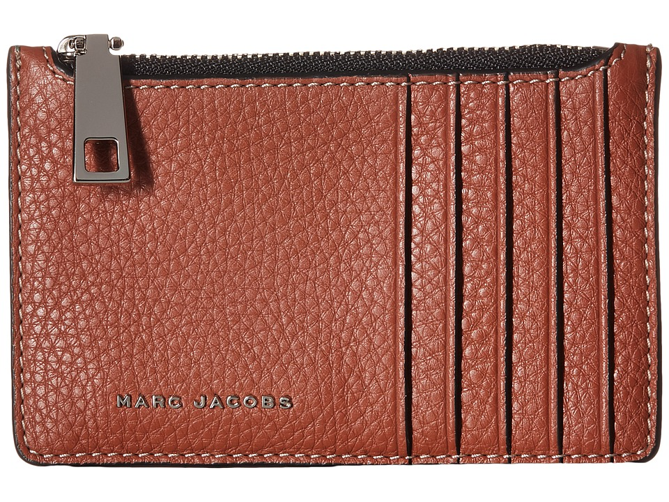Marc Jacobs - Wingman Card Zip Wallet (Cognac Multi) Wallet Handbags