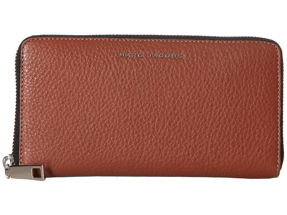 Marc Jacobs - Wingman Standard Continental Wallet (Cognac Multi) Continental Wallet