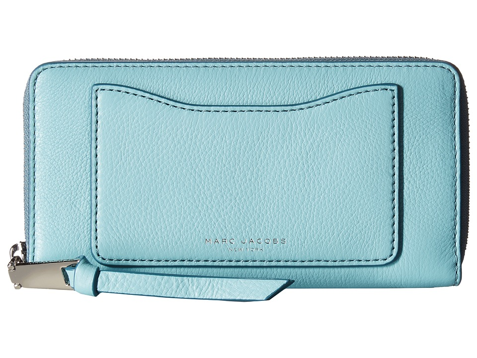 Marc Jacobs - Recruit Standard Continental Wallet (Azur) Wallet Handbags