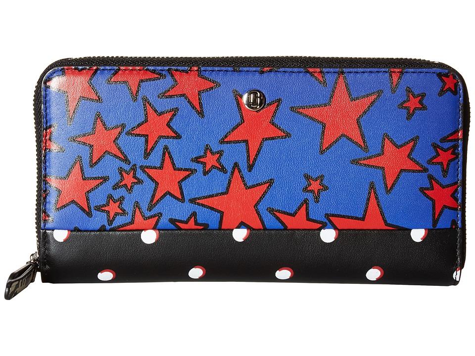 Marc Jacobs - Landscape Standard Continental Wallet (Web Blue Multi) Wallet Handbags