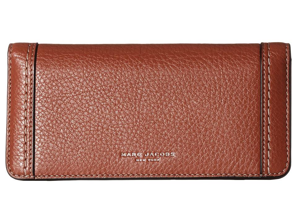 Marc Jacobs - Maverick Open Face Wallet (Cognac) Wallet Handbags