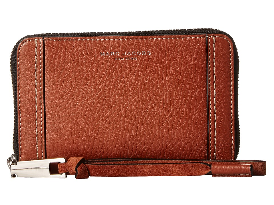 Marc Jacobs - Maverick Zip Phone Wristlet (Cognac) Wristlet Handbags