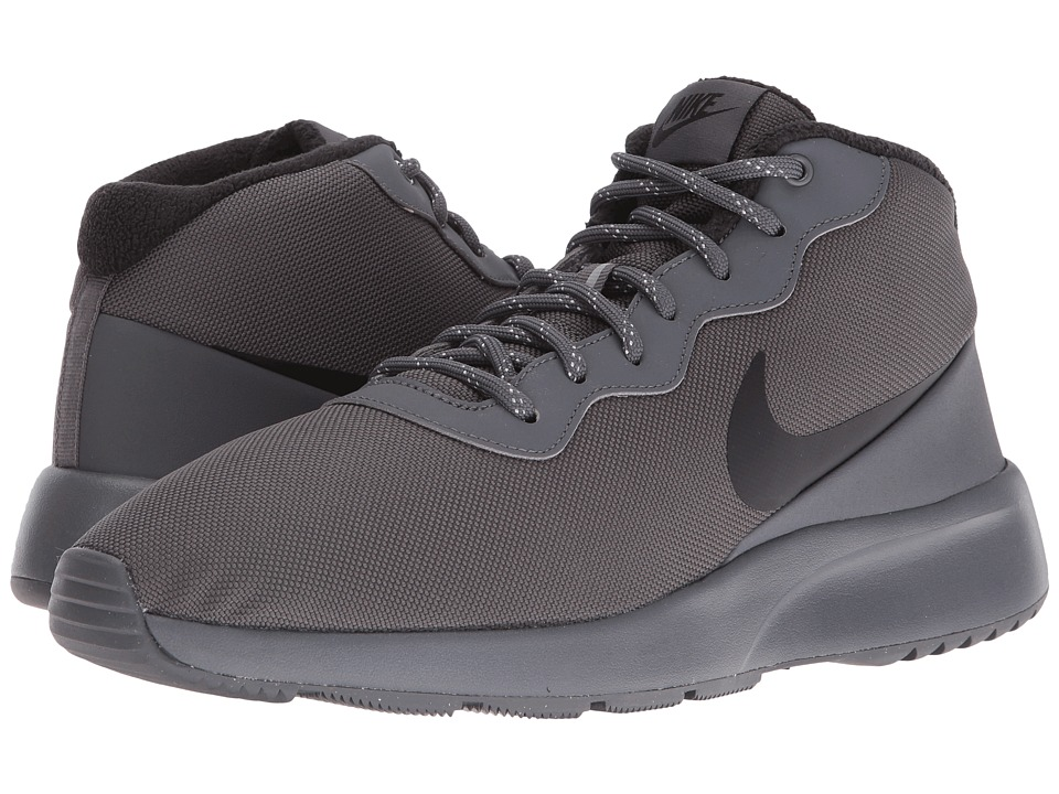 Nike - Tanjun Chukka (Dark Grey/Black/Green Glow) Men's Basketball Shoes