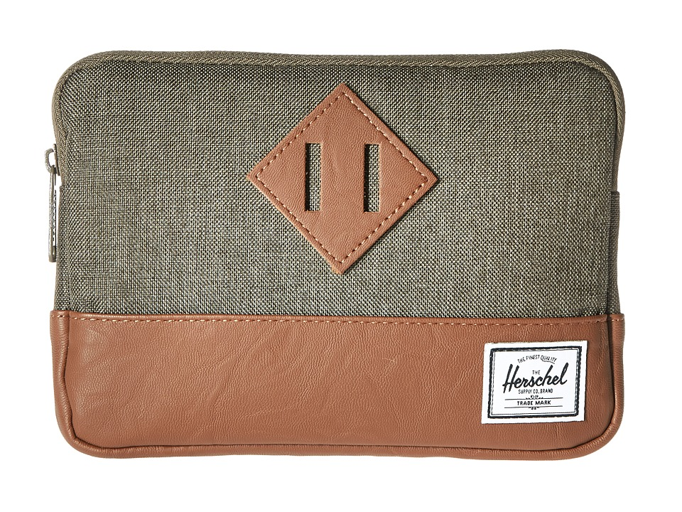 Herschel Supply Co. - Heritage Sleeve For iPad Mini (Canteen Crosshatch/Tan Synthetic Leather) Computer Bags
