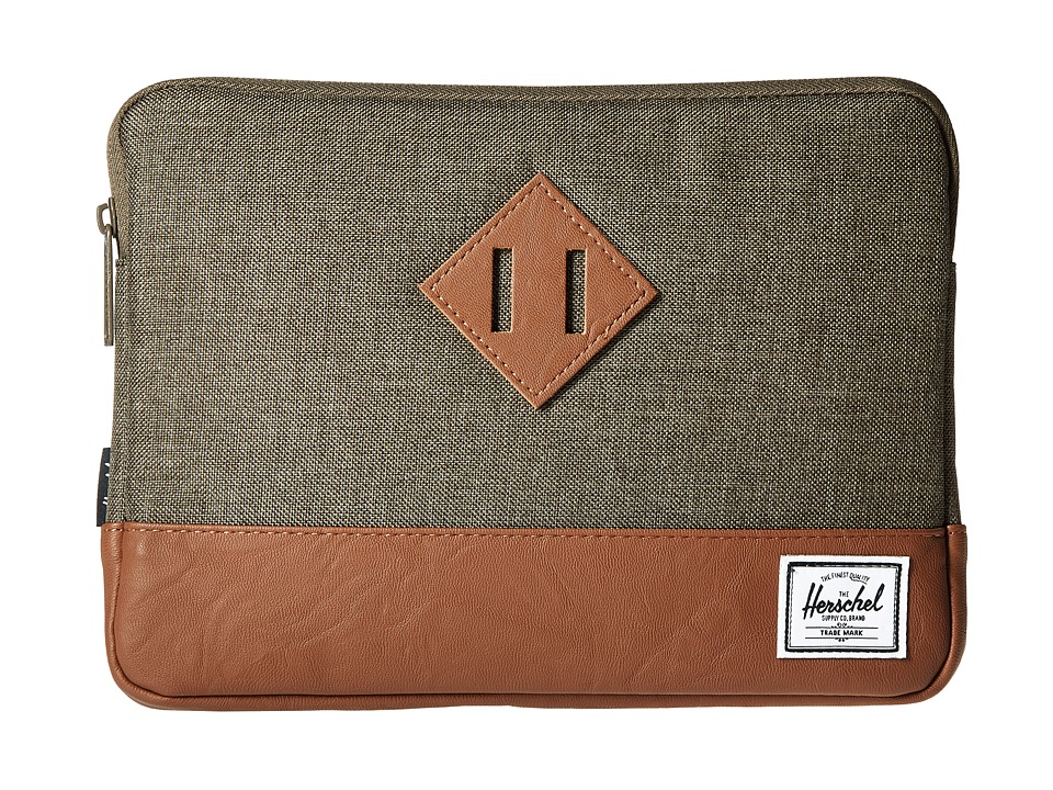 Herschel Supply Co. - Heritage Sleeve for iPad Air (Canteen Crosshatch/Tan Synthetic Leather) Wallet