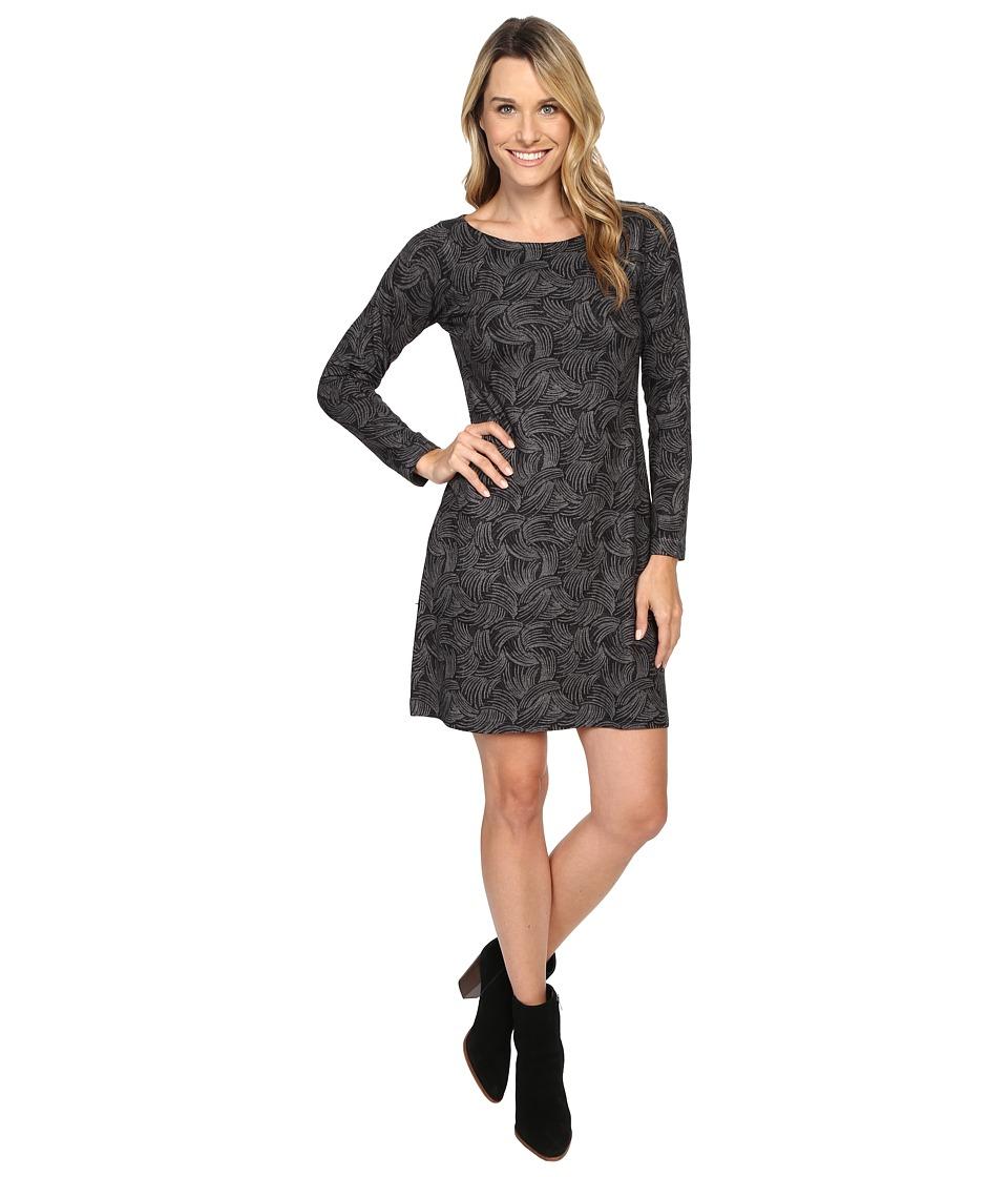 Nally & Millie - Abstract Print Long Sleeve Dress (Multi) Women's Dress