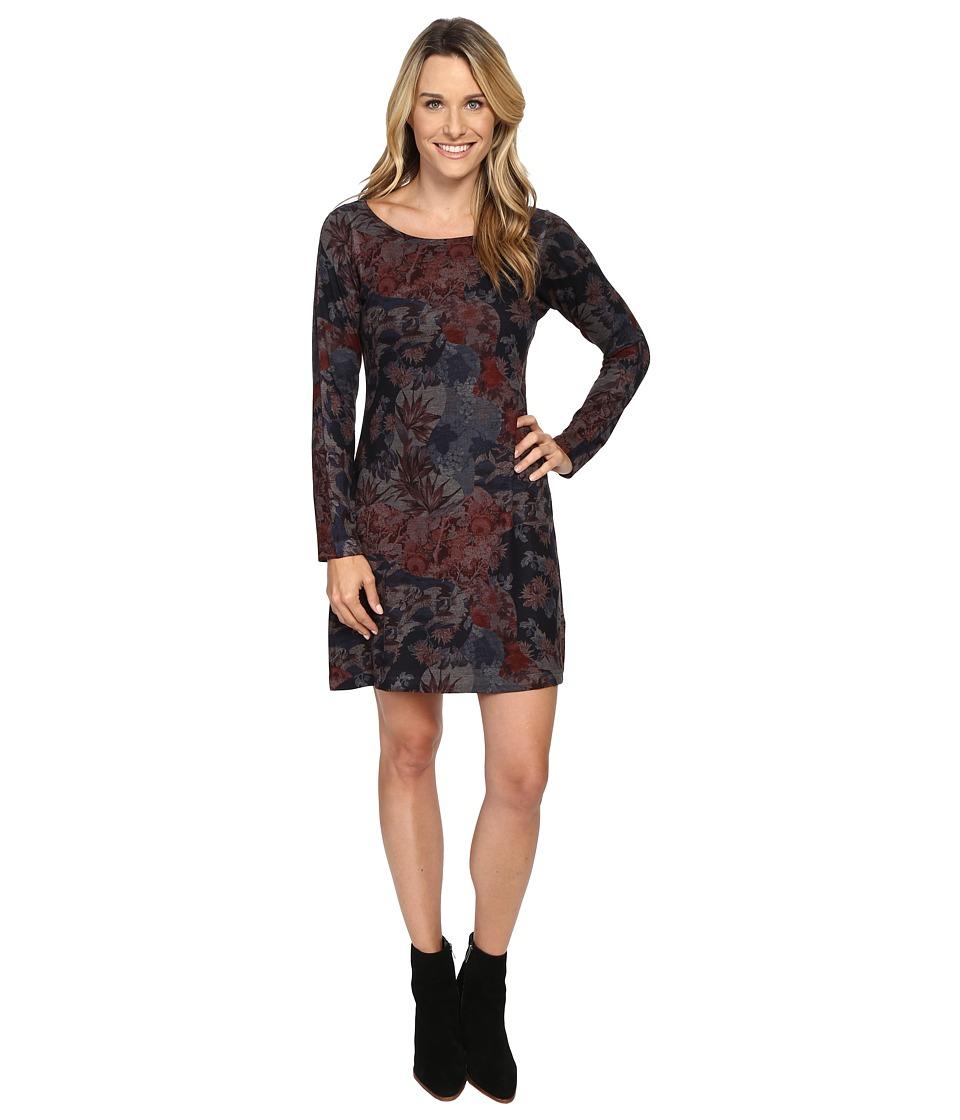 Nally & Millie - Floral Print Long Sleeve Dress (Multi) Women's Dress