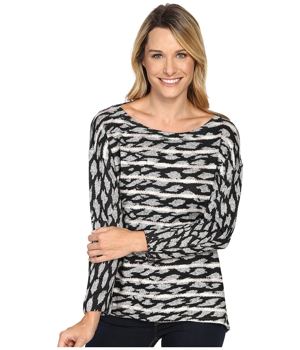 Nally & Millie - Printed Stripe Top (Multi) Women's Clothing