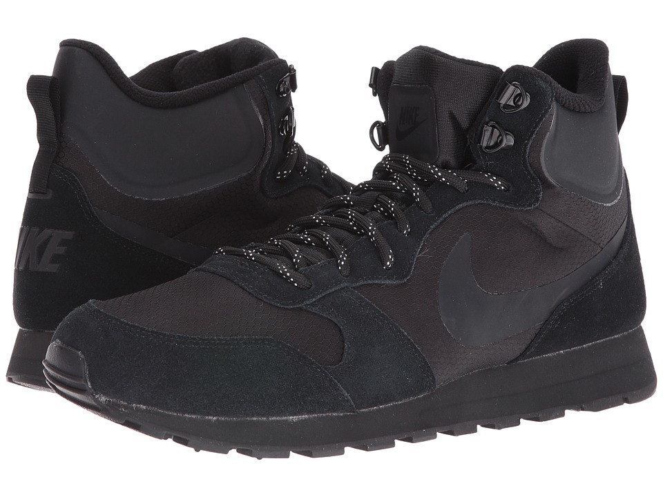 Nike - MD Runner 2 Mid Premium (Black/Black/Black) Men's Basketball Shoes