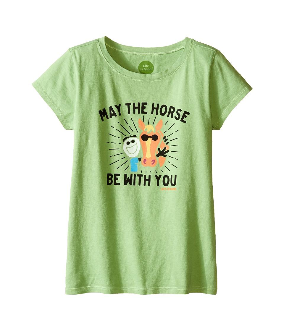 Life is good Kids - Elemental Mane Crusher Tee (Little Kids/Big Kids) (Fern Green) Girl's T Shirt