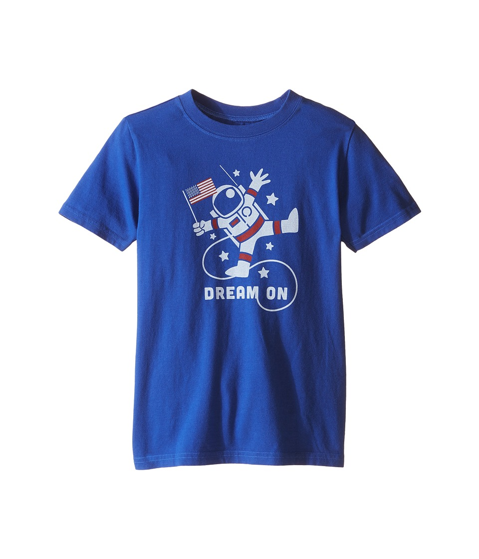 Life is good Kids - Astronaut Dream Crusher Tee (Little Kids/Big Kids) (Cobalt Blue) Boy's T Shirt