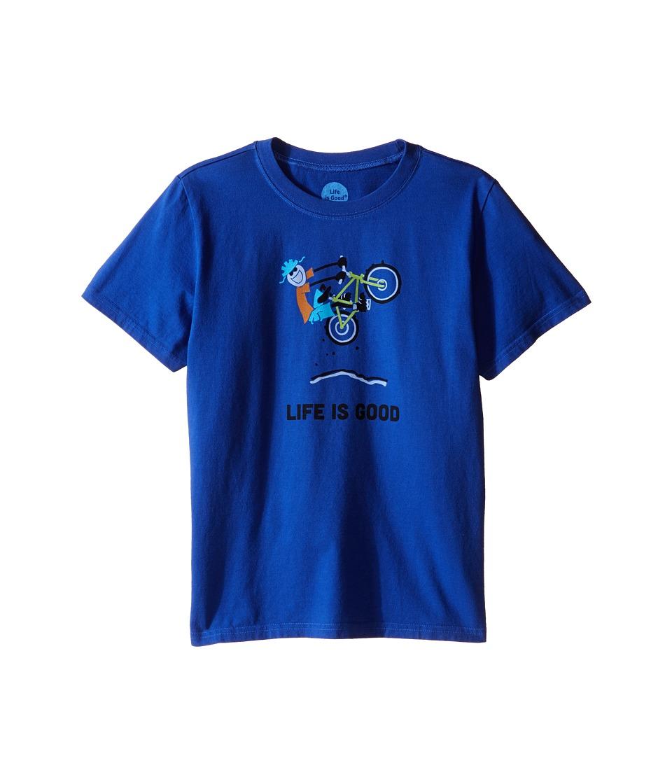 Life is Good Kids - Elemental Air Time Crushertm Tee (Little Kids/Big Kids) (Cobalt Blue) Boy's T Shirt