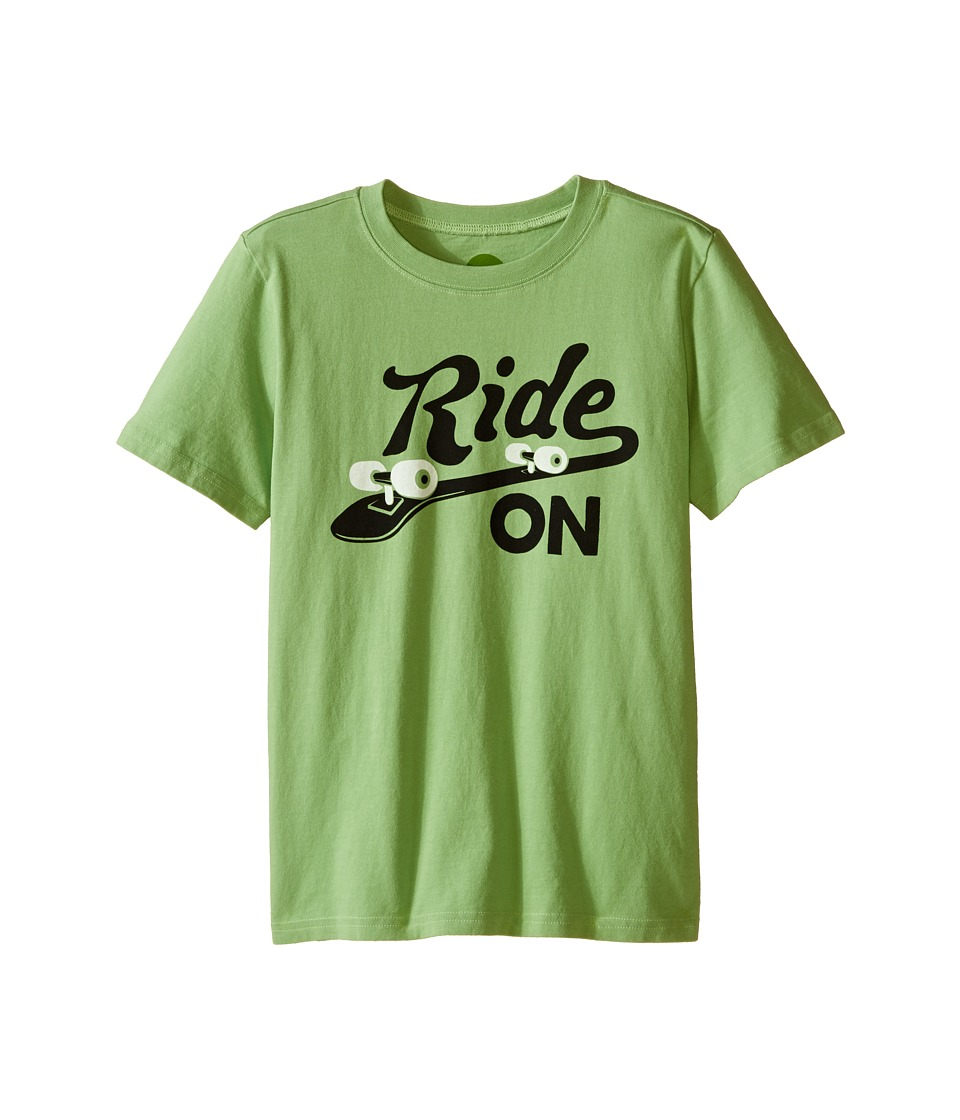 Life is good Kids - Enjoy Ride Skateboard Crusher Tee (Little Kids/Big Kids) (Fern Green) Boy's T Shirt