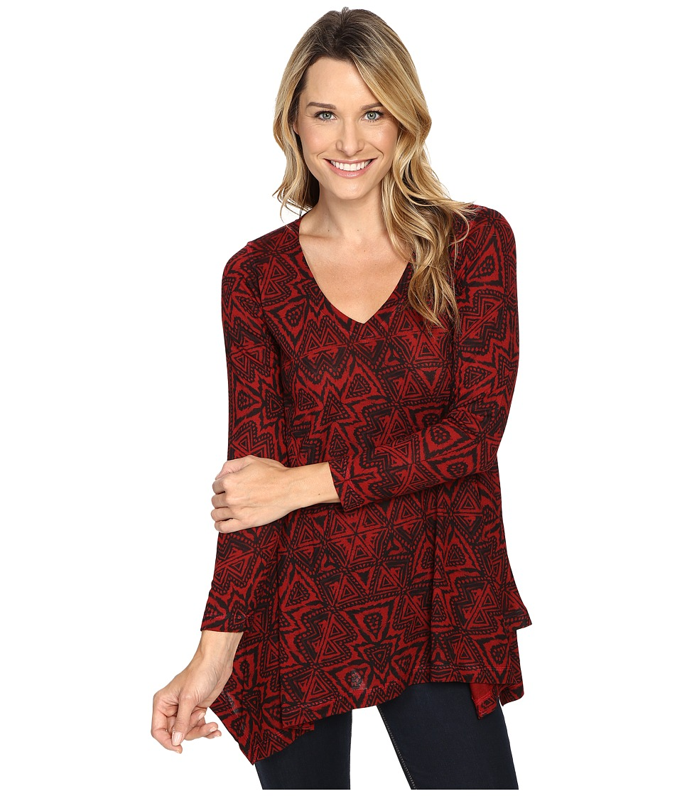 Nally & Millie - Red Aztec Tunic (Multi) Women's Clothing