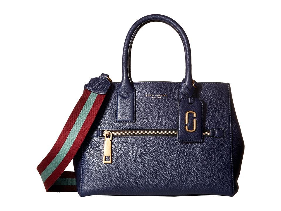 Marc Jacobs - Gotham Tote (Midnight Blue/Vino Multi Webbing Strap) Tote Handbags