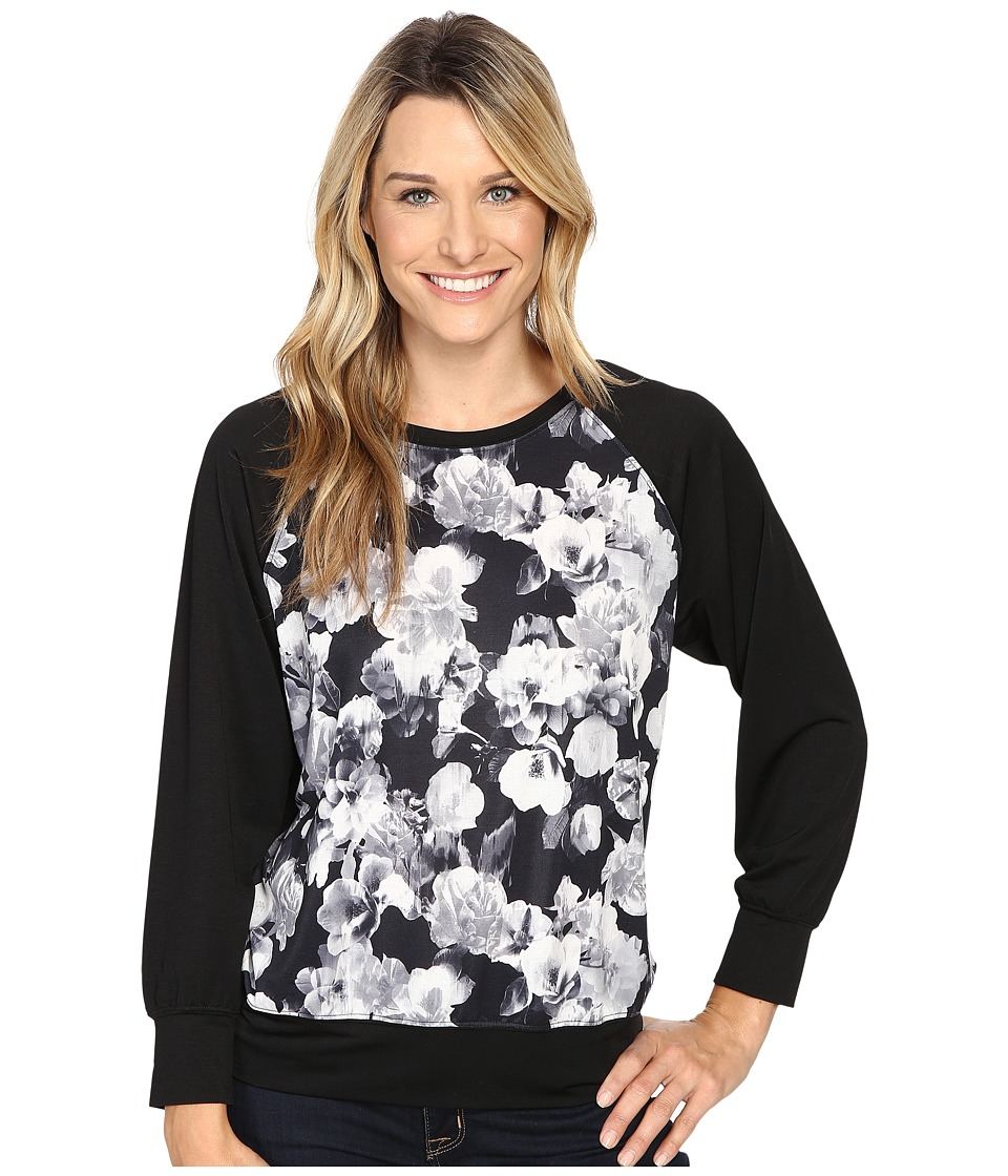 Nally & Millie - Floral Raglan Sleeve Top (Multi) Women's Clothing