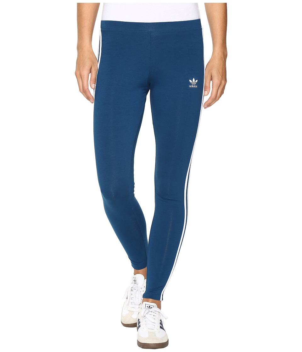 adidas Originals - 3-Stripes Leggings (Tech Steel/White) Women's Casual Pants