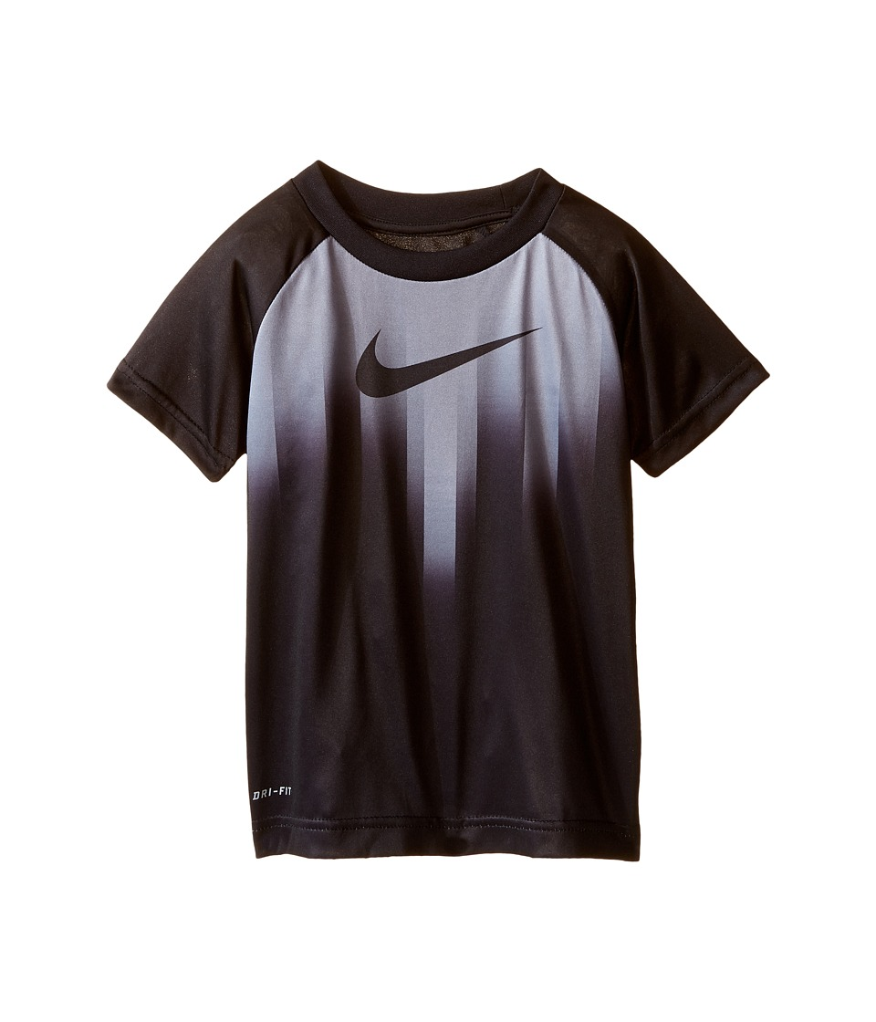 Nike Kids - Motion Swoosh Dri-FIT Short Sleeve Tee (Toddler) (Black) Boy's T Shirt