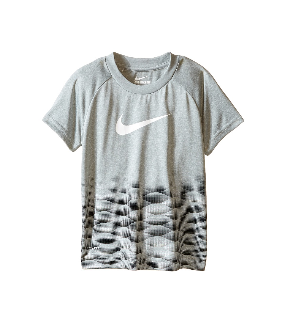 Nike Kids - Swoosh Jambox Dri-FIT Short Sleeve Tee (Toddler) (Dark Grey Heather) Boy's Clothing
