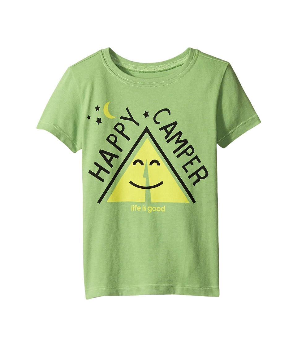 Life is good Kids - Happy Camper Tent Crusher Tee (Toddler) (Fern Green) Kid's T Shirt