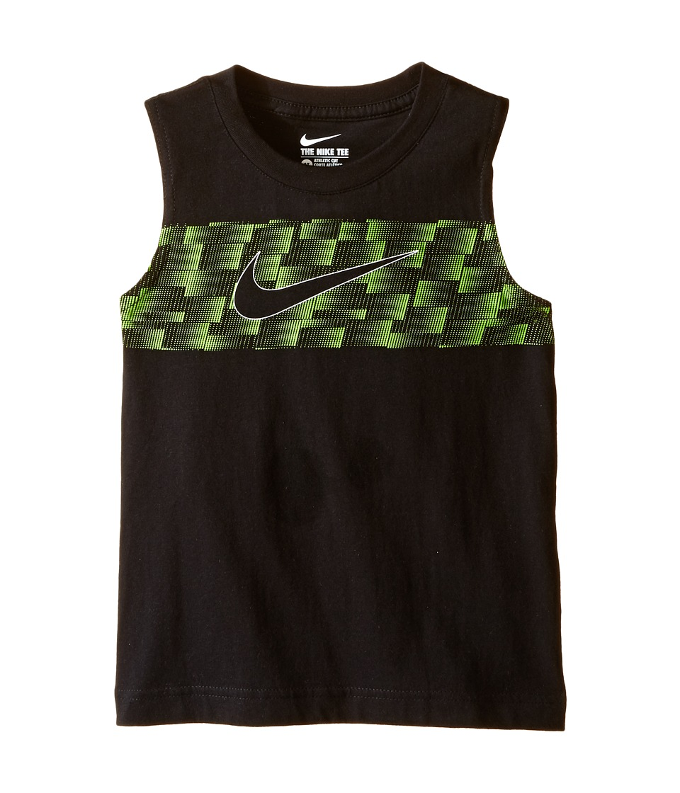 Nike Kids - Ultra Swoosh Muscle Tee (Toddler) (Black) Boy's T Shirt