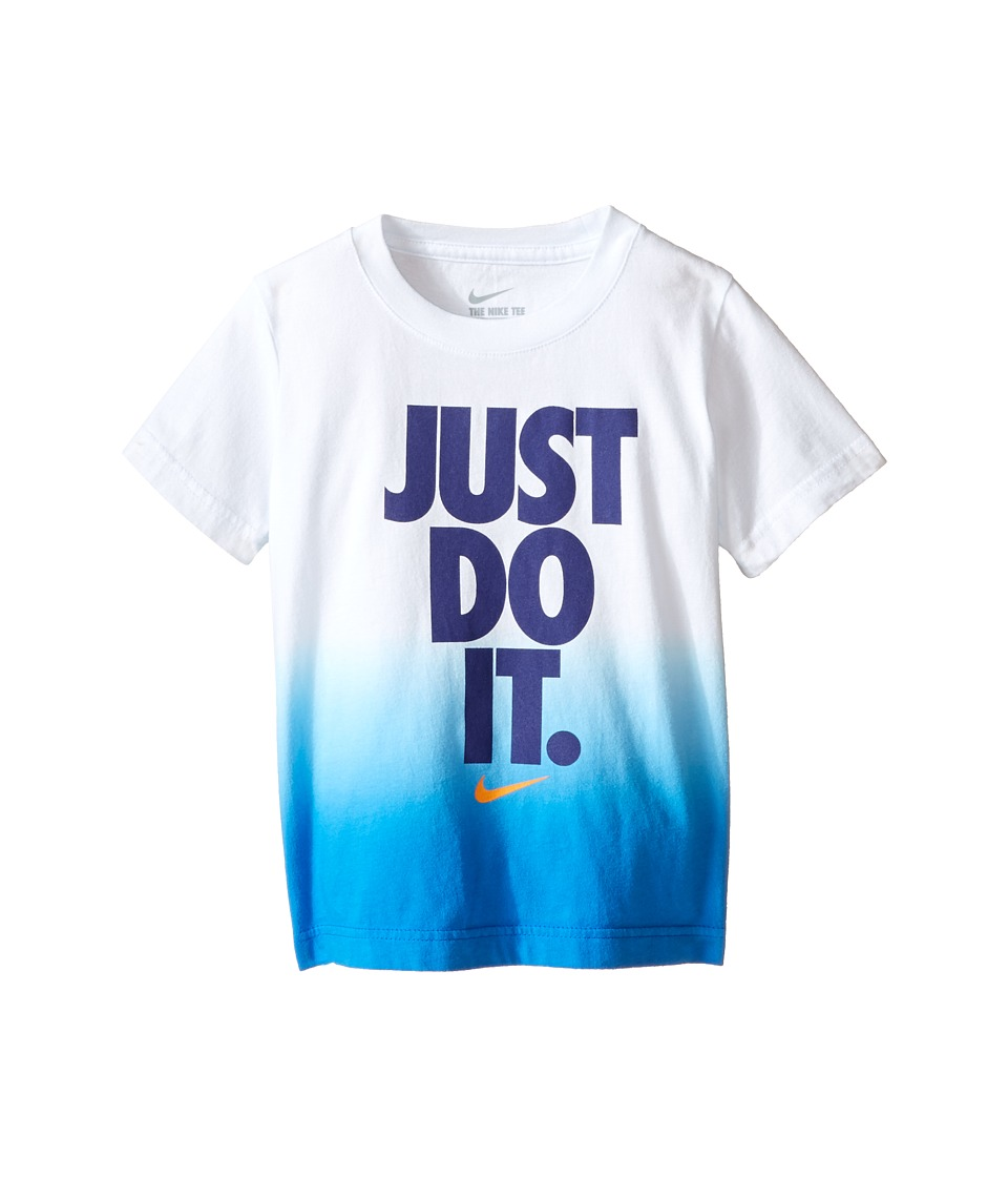 Nike Kids - Just Do It Dip Dye Short Sleeve Tee (Toddler) (White) Boy's T Shirt