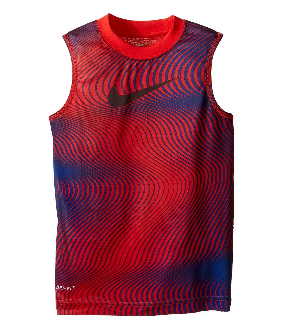 Nike Kids - Engineered Lines Dri-FITtm Muscle Tee (Toddler) (University Red) Boy's T Shirt