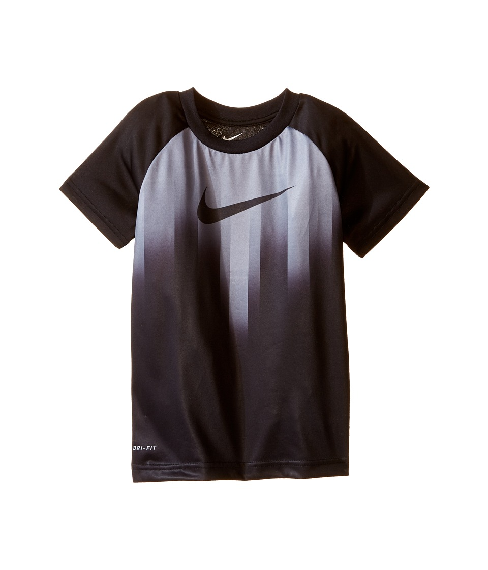 Nike Kids - Motion Swoosh Dri-FIT Short Sleeve Tee (Little Kids) (Black) Boy's Clothing