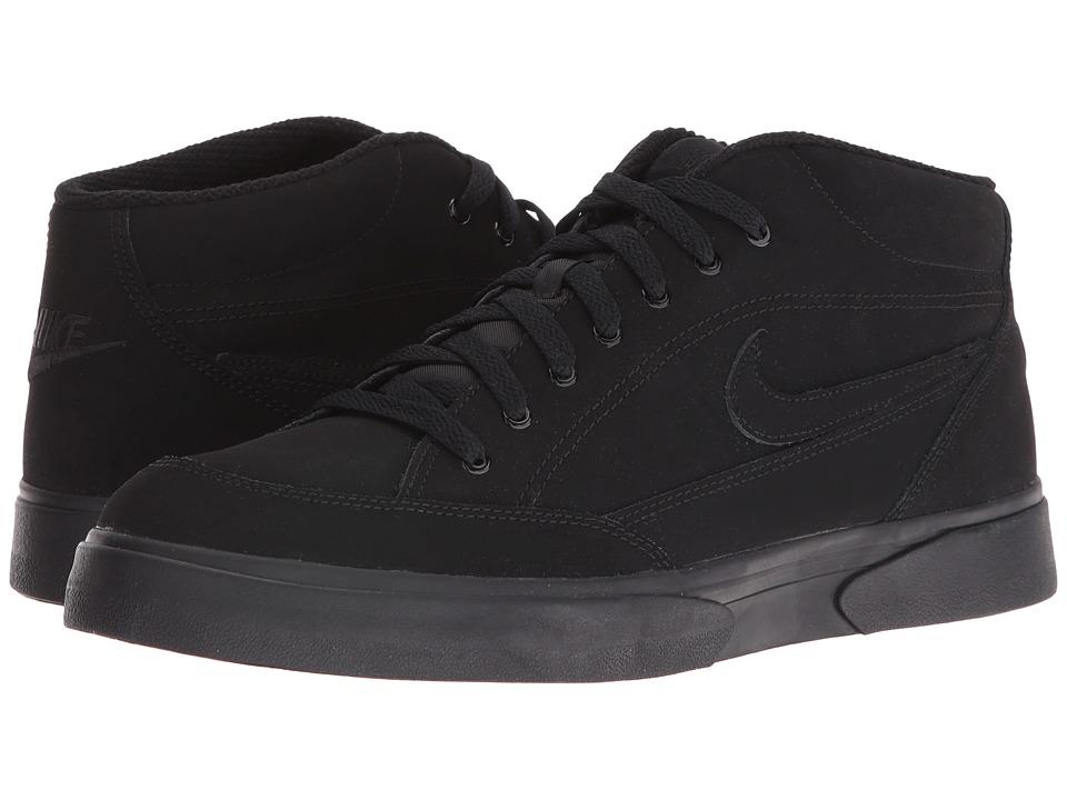 Nike - GTS '16 Mid (Black/Black/Black) Men's Tennis Shoes