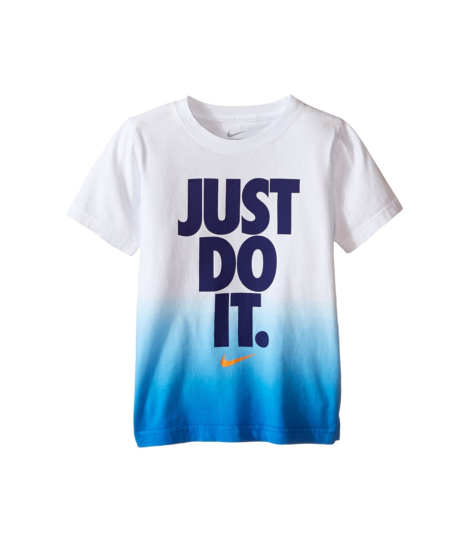 Nike Kids - Just Do It Dip Dye Short Sleeve Tee (Little Kids) (White) Boy's T Shirt