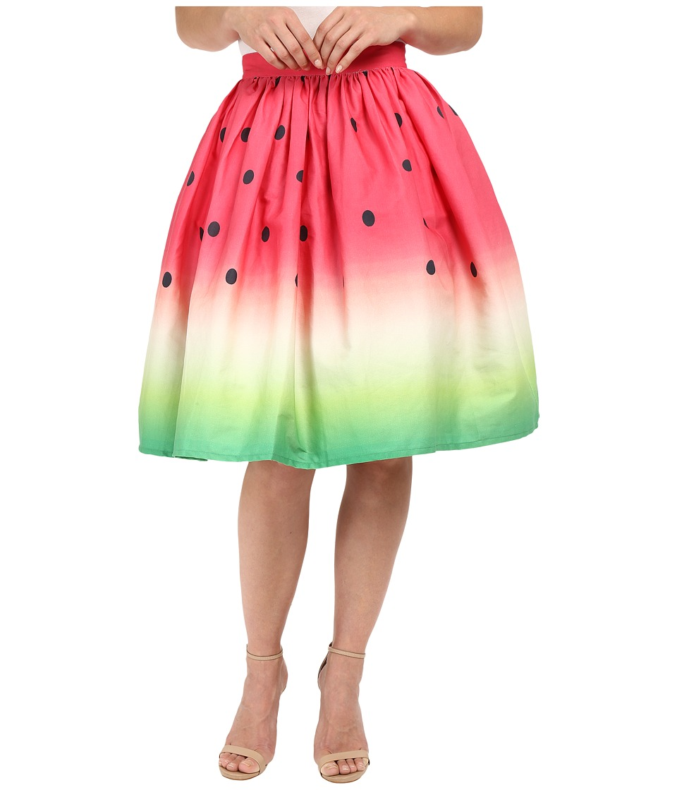 Unique Vintage - Novelty Watermelon Flare Skirt (Print) Women's Skirt