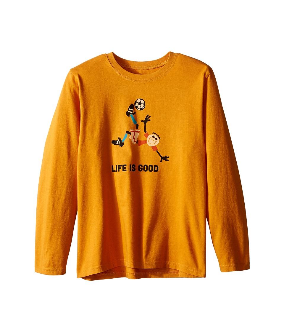 Life is good Kids - Jake Soccer Long Sleeve Tee (Little Kids/Big Kids) (Artisan Gold) Boy's Long Sleeve Pullover