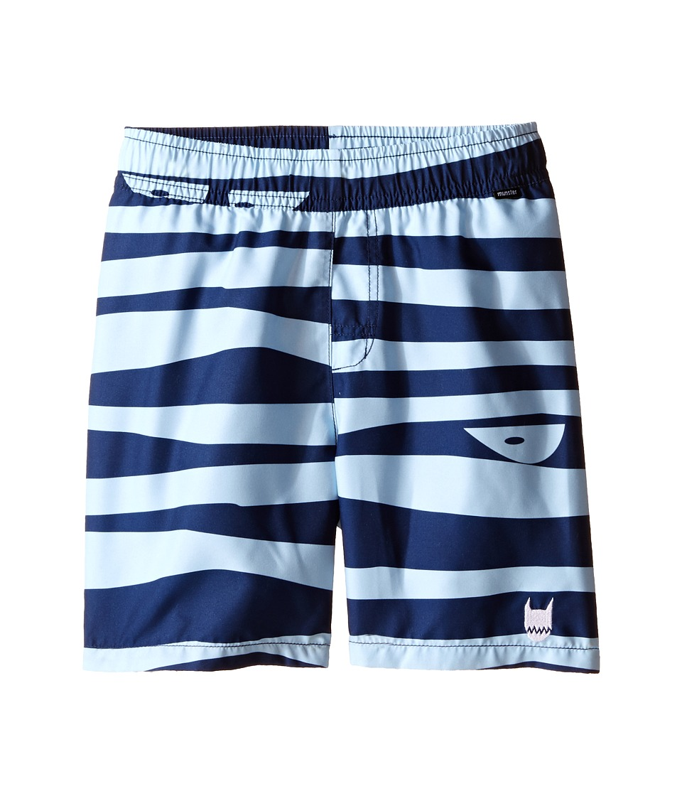 Munster Kids - Choppy Boardshorts (Toddler/Little Kids/Big Kids) (Pale Blue) Boy's Swimwear
