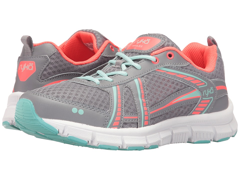 Ryka - Hailee SMT (Frost Grey/Eggshell Blue/Electric Coral) Women's Shoes