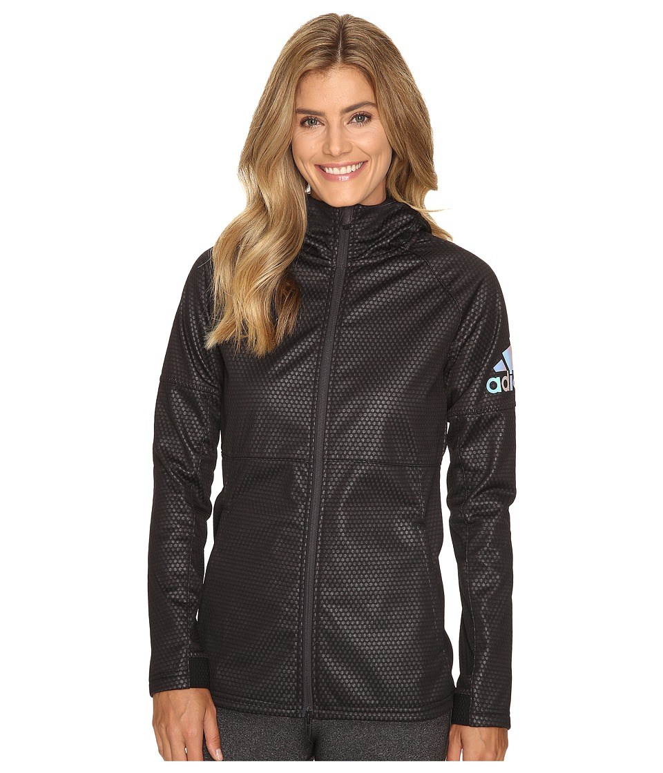 adidas - CLIMASTORM Fleece Jacket (Black/Utility Black) Women's Coat