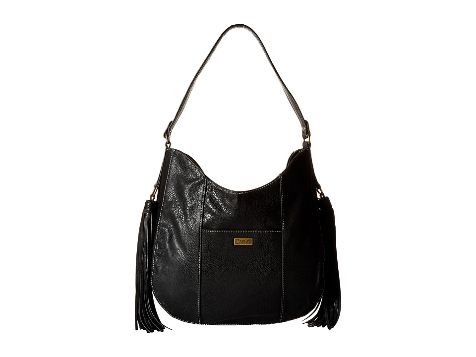 CARLOS by Carlos Santana - Tatum Scooped Hobo (Black) Hobo Handbags