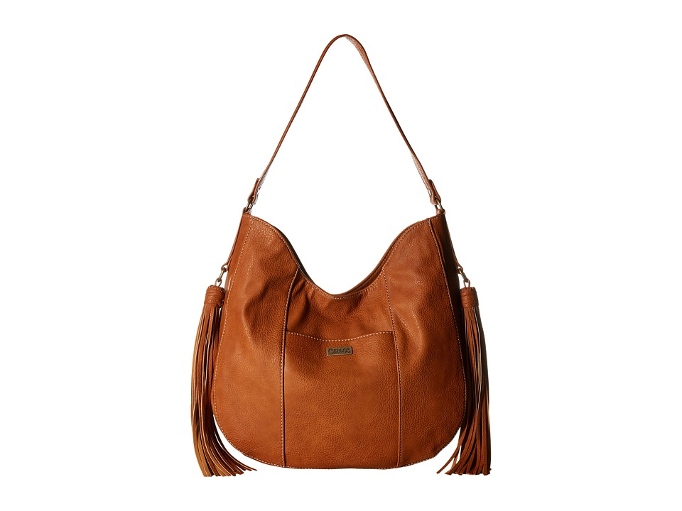CARLOS by Carlos Santana - Tatum Scooped Hobo (Cognac) Hobo Handbags