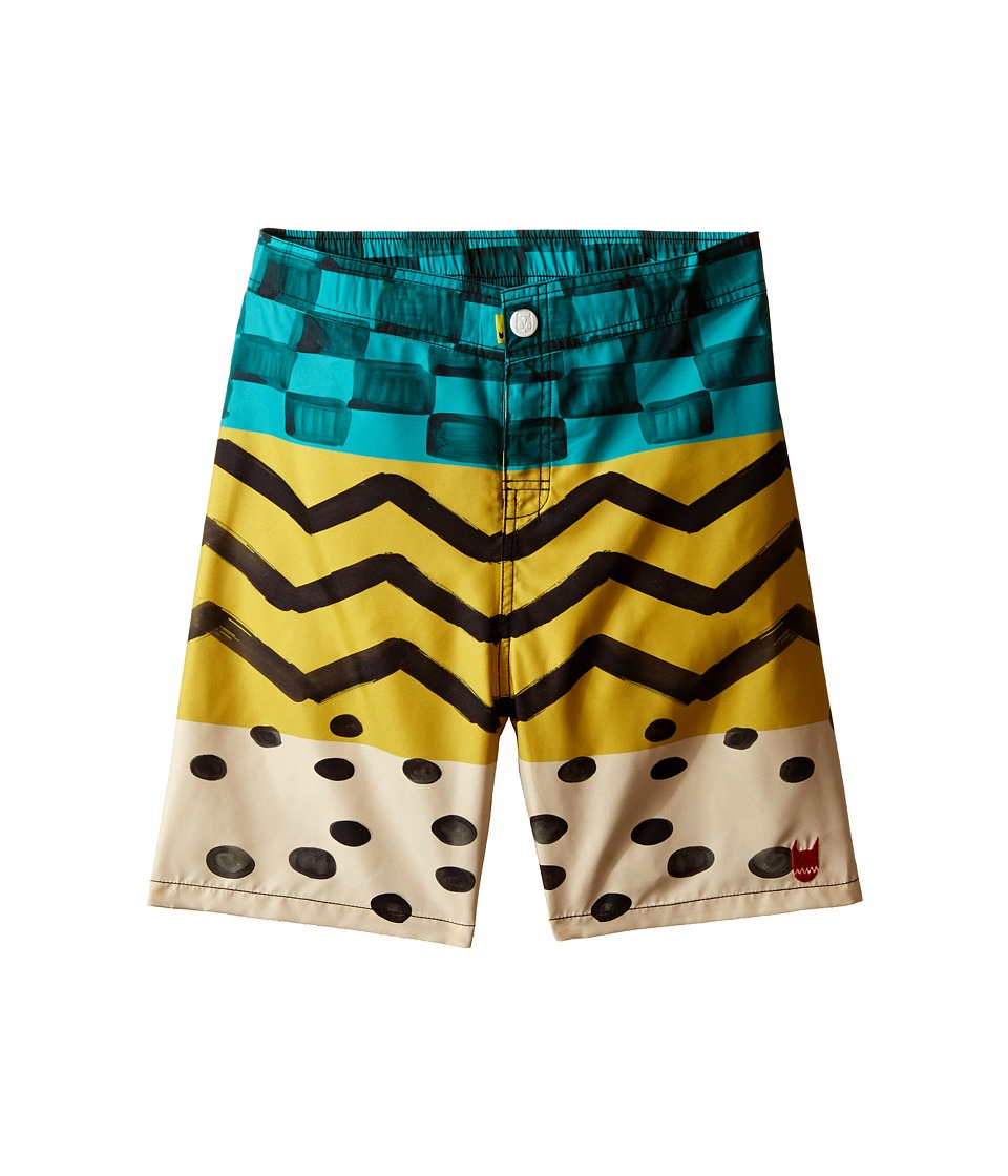 Munster Kids - Race Boardshorts (Toddler/Little Kids/Big Kids) (Gold) Boy's Swimwear